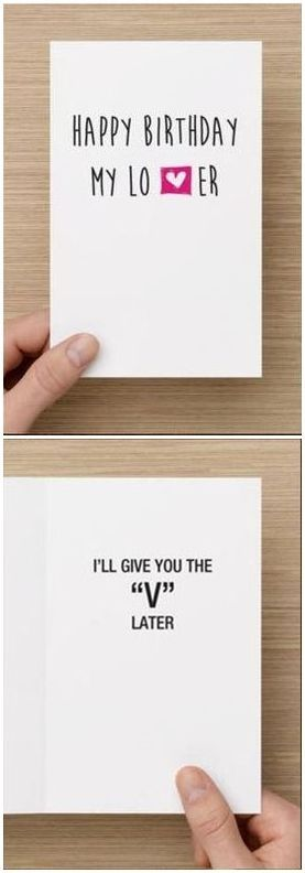 Naughty Birthday Card For Boyfriend Him I'll by diamonddonatello, $5.68