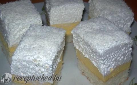 Kókuszos krémes recept fotóval