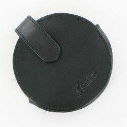 Stratton of Mayfair Round Black Leather Compact CaseLarge #Jewellery #Accessories #scarf