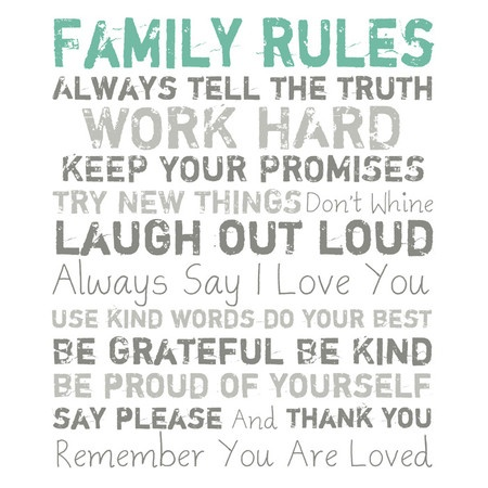 #Family #Rules #Quote #Wall #Art