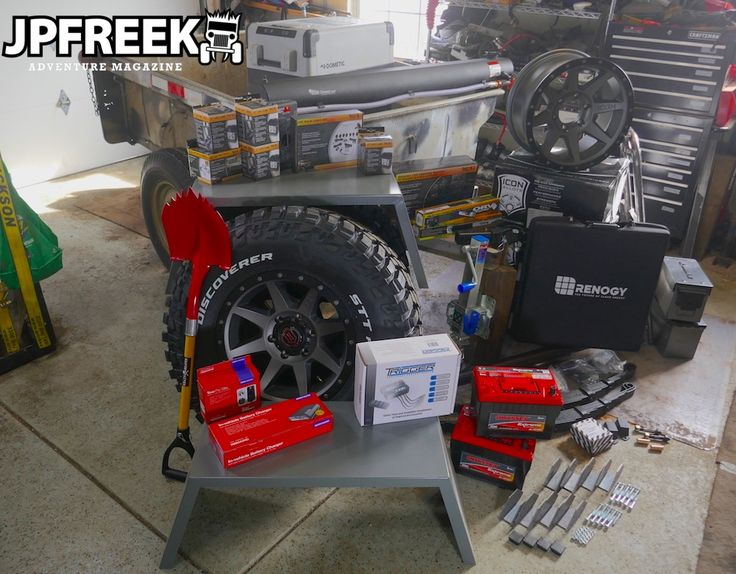 Tired M416 trailer + huge pile of parts = Stay tuned for a big JPFreek Adventure Magazine DIY Trailer Supported Adventuring build article.