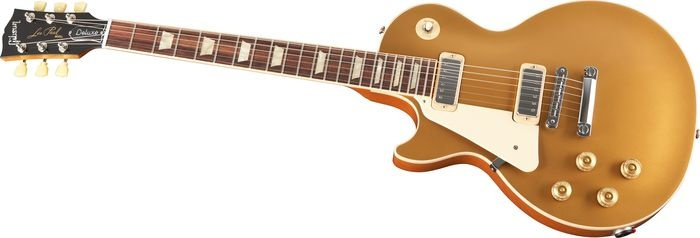 Gibson Limited Run Les Paul Deluxe Left-Handed Electric Guitar: Guitar Gold, Electric Guitars