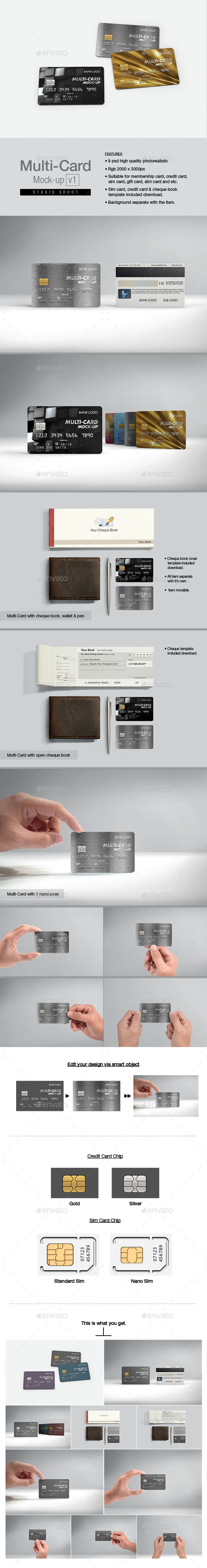 MultiCard Mockup v1 — Photoshop PSD #symbolic #sim card • Available here → https://graphicriver.net/item/multicard-mockup-v1/16636825?ref=pxcr
