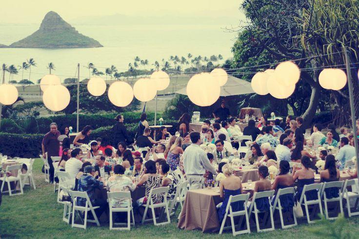 a beautiful wedding. | Kualoa Ranch overlooking mokolii.