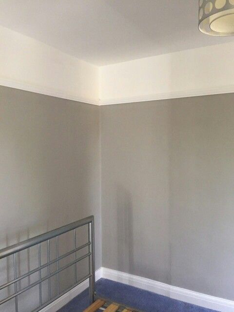 Dulux Trade vinyl matt walls and ceilings. Dulux Satinwood on trim