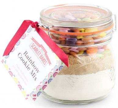 RAINBOW COOKIE MIX by Scarlet Bakes Straight from a handy jar, just add some butter and eggs!