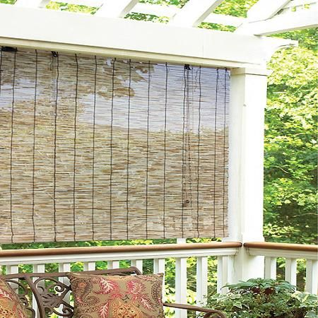 Radiance Reed Woven Wood Bamboo Rollup Window Blind Natural Home Decor Apartment Balcony