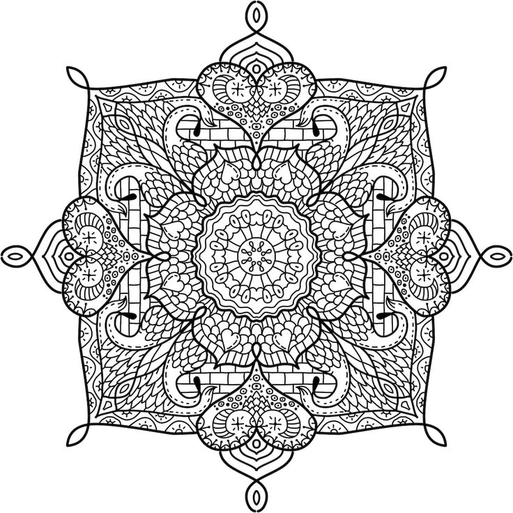 168 best printable mandalas to color - free images on pinterest ... - Mandala Snowflakes Coloring Pages