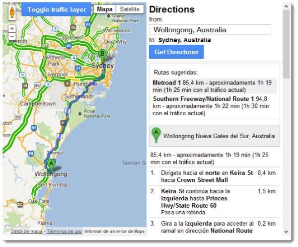 Google libera datos de tráfico para las empresas que utilicen la API de Google Maps