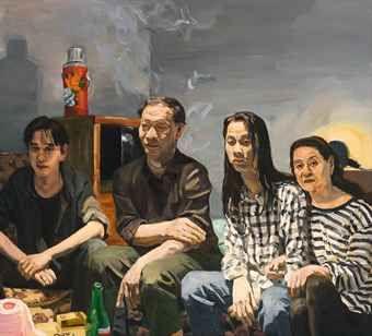 Sons by Liu Xiaodong