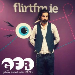 """Interview during Galway Fringe Festival on Galway Festival Radio. The interview with Kernan Andrews (from the Galway Advertiser) is around the 41:26 mark, then there's the """"Gyp-Hop Polka"""" song (performed live) at 46:25."""