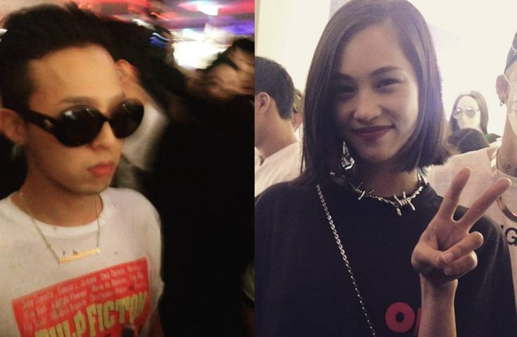 G-Dragon and Kiko Mizuhara spotted at a launch party in Korea