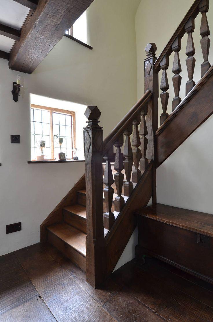 Jacobean style oak staircase