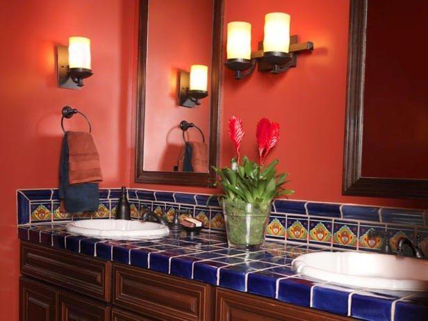 great bathroom with talavera tile