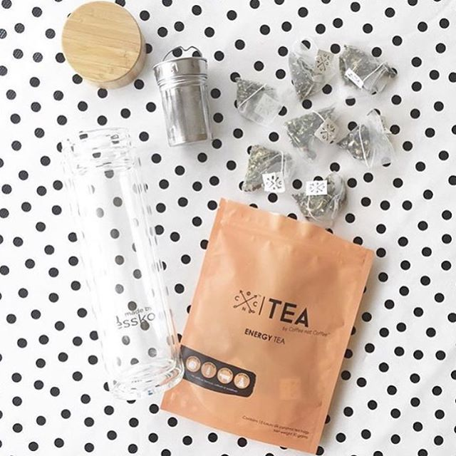 @minibots says our ENERGY TEA is the perfect pick me up for a tired Mumma!  Our ENERGY TEA is made from a combination of black tea with ashwagandha and welpenela to kick start your energy levels and give that extra boost!  Beautifully packaged in silk pyramid tea bags and available in 15, 30, 45 and 60 serves.  Shop now at www.coffeenotcoffee.com.au  Flask @madebyfressko_official  #throwback #tea #energytea