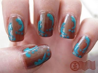 .: Daily Nails, Nails Art, Artsy Nails, Color, Makeup, Nails Just, Baby Gender Announcements, Nails Designs, Blue Nails