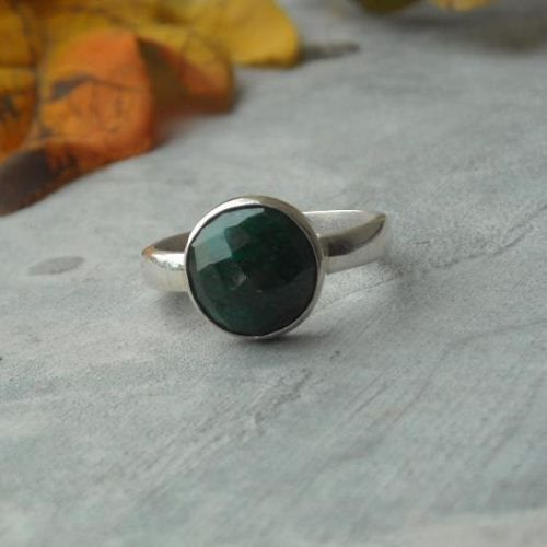 Buy Emerald ring sterling silver, Handmade emerald ring online shopping  by aStudio1980 Online at aStudio1980.com. Enjoy FREE shipping now. 100% handcrafted and original.