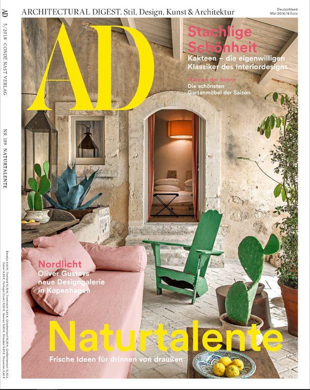 Ad Architectural Digest 5 2018 Naturtalente Architecture Design Living Livingroomideas