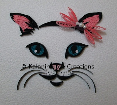 quilled kitty face