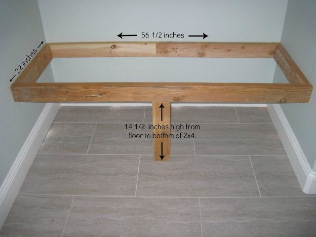 entry bench with cushion DIY