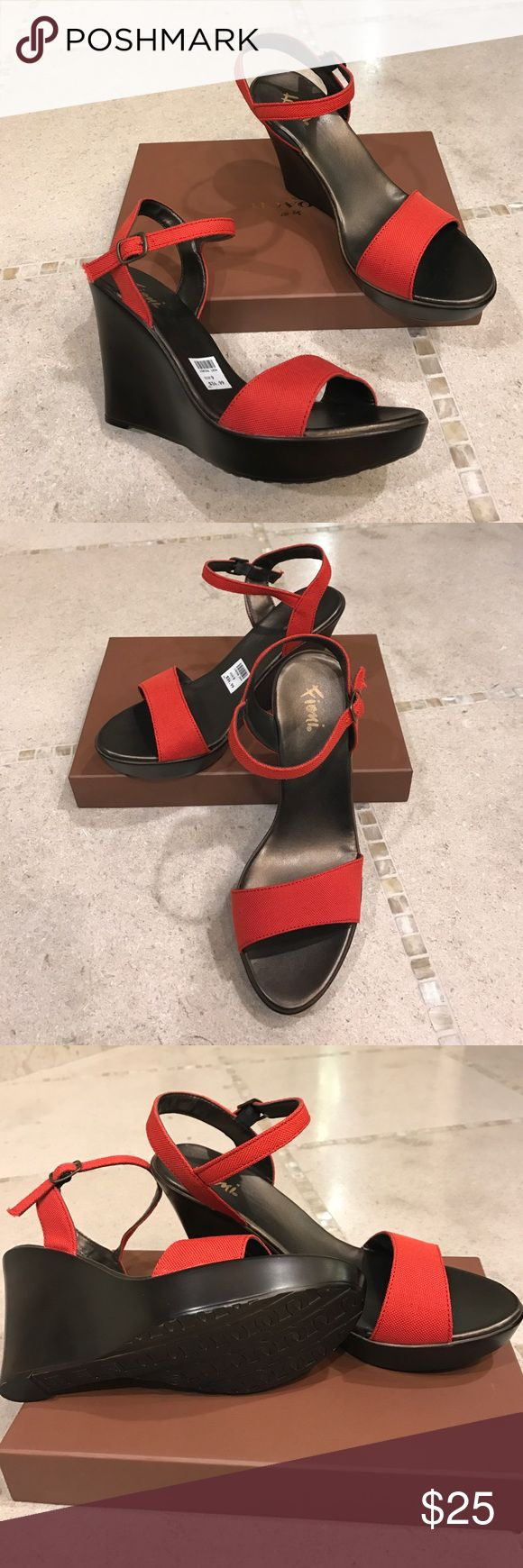 Fioni wedges 👠 Brand new, tags attached, ladies wedge sandals in beautiful color. It is by Fioni, in ladies size 9. This would be one of the most chic and comfortable shoes you would own... Fioni Shoes Sandals