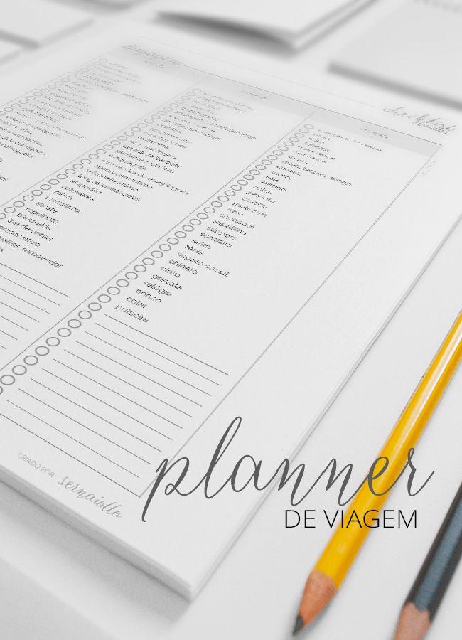 Um planner para organizar a sua viagem longa: planeje suas finanças, compras, to-do lists, lugares a conhecer, contatos e bagagem - like a boss!
