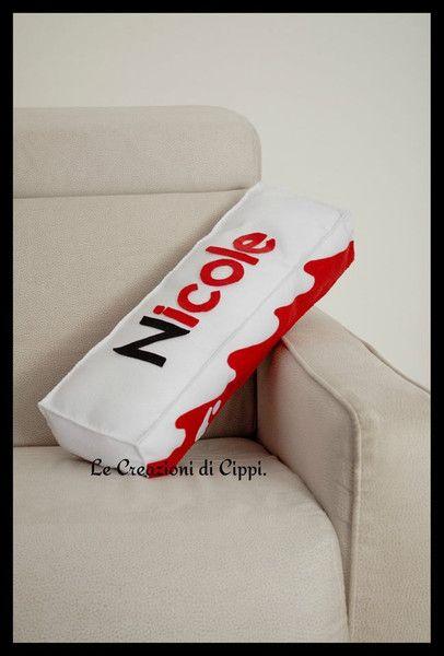 Cuscini - Cuscino barretta di cioccolato in pannolenci. - un prodotto unico di LecreazionidiCippi su DaWanda