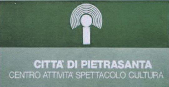 """Allievo Mauro Puccetti, logo del Teatro La Versiliana, 1980. Istituto statale d'arte """"Stagio Stagi"""" di Pietrasanta."""