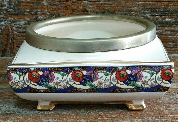 Vintage L & Sons Planter Bowl, Lancaster And Sons Footed Planter, Vintage Planter, by EmptyNestVintage on Etsy