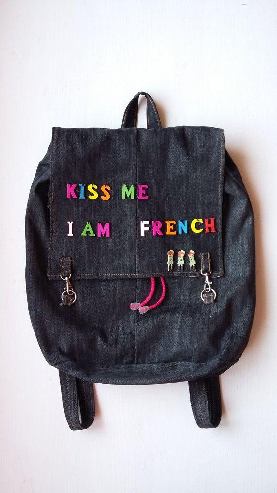 Jean Backpack for Girl / Cute Teenage Denim Backpack / Stylish Teenage Denim Backpack / Christmas Gift for Teenage Girl