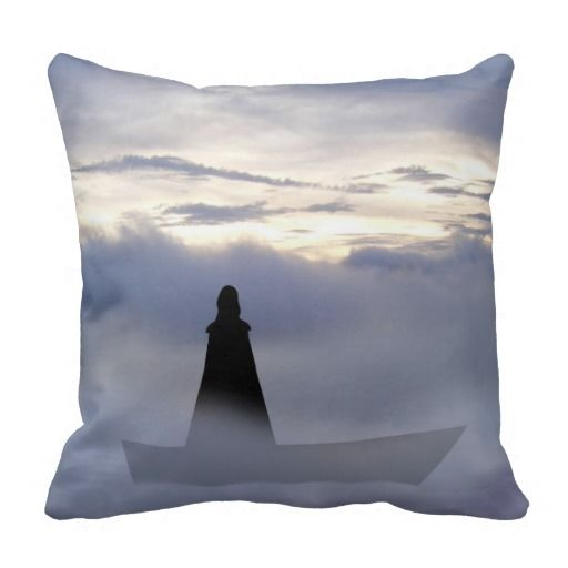 Lady of the lake pillow.  A Lady who had power over the elements through focusing the mind, shrouded in mystery and beauty.