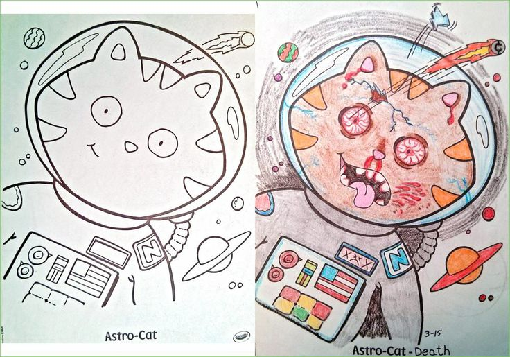 What Coloring Books Look Like in the Hands of Demented