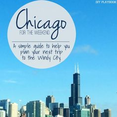Heading to Chicago soon? Here's a list of some of our favorite places in the Windy City!