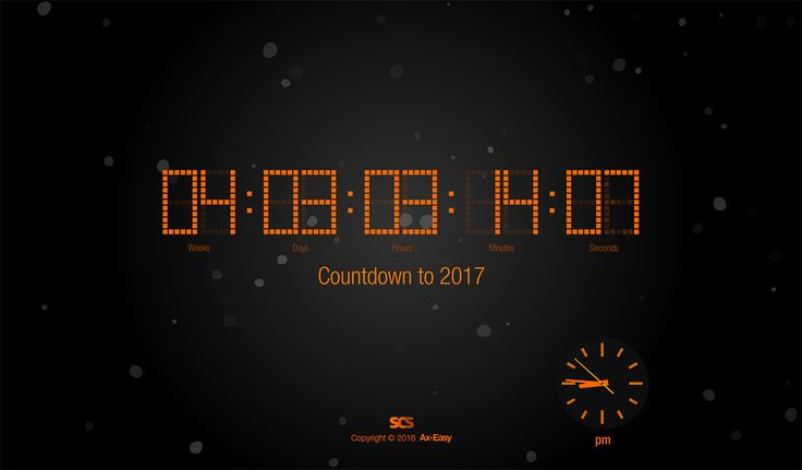 Count to 2017 (Win – Free!) | Screen Clock Saver - Mac & Windows Screensavers – don't loose time anymore™