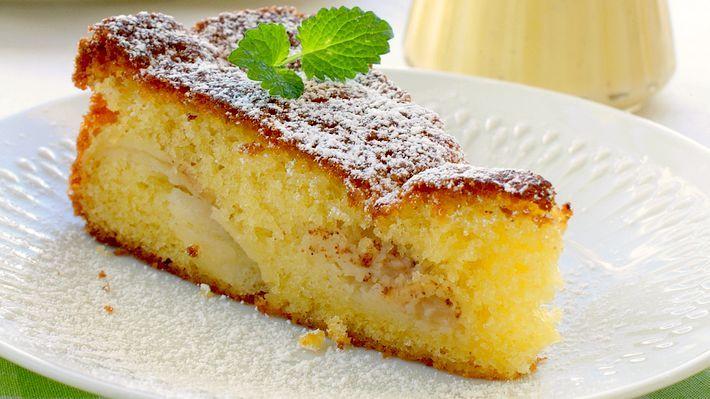 MatPrat - Eplekake med vaniljesaus Apple cake with vanilla cream - a norwegian favourite ❤️