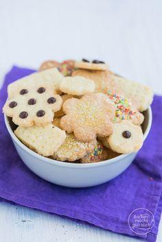 Diese Plätzchen schmecken nicht nur zu Weihnachten! Einfache, schnelle 3-Zutaten-Kekse ohne Ei | http://www.backenmachtgluecklich.de