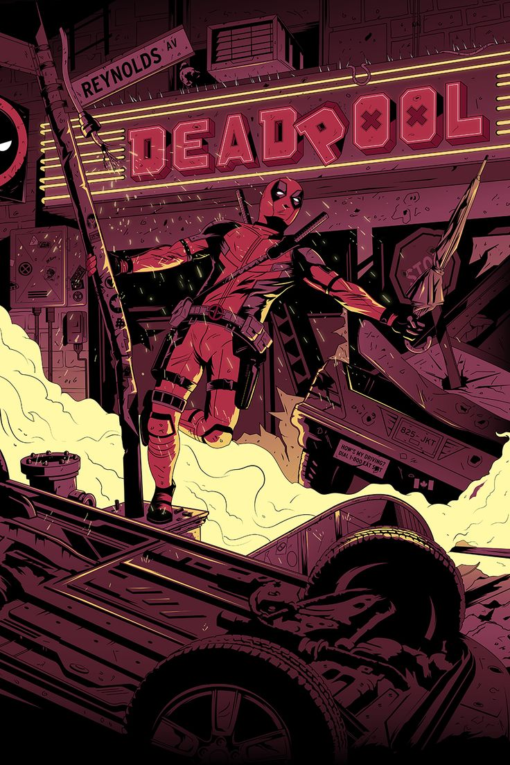 Deadpool Fox Movie Poster - Oli Riches and Lazrie Greasley