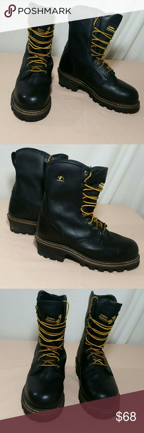 GOLDEN RETRIEVER Boots w Vibram Soles Size 8 1/2 Rugged outdoor wear GOLDEN RETRIEVER Boots.  This pair of Boots features a Vibram sole, and sturdy waterproof insulation for outdoor cold weather wear.  This pair of Boots are a size 8 1/2.  This pair of GOLDEN RETRIEVER Boots are in excellent condition. Golden Retriever Shoes Boots