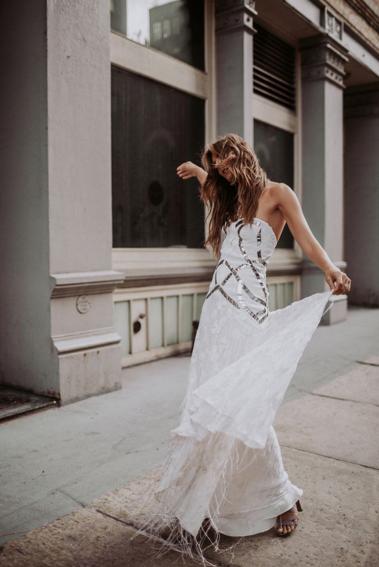 @tezzamb in our // HAWKE GOWN // Love Spell Collection by // Rue De Seine #boho #bohemian