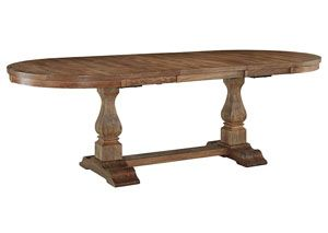 Danimore Light Brown Oval Extension Table, /category/dining-room/danimore-light-brown-oval-extension-table-2.html