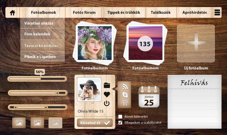 Wood UI design