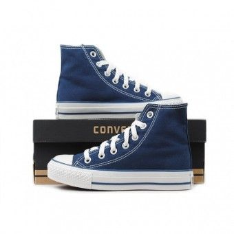 Converse Shoes Navy Blue Chuck Taylor All Star Classic Hi