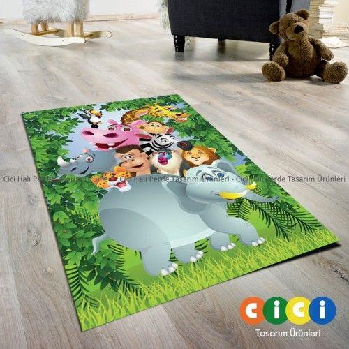 Hayvanat Bahçesi Kız Çocuk Odası Halısı