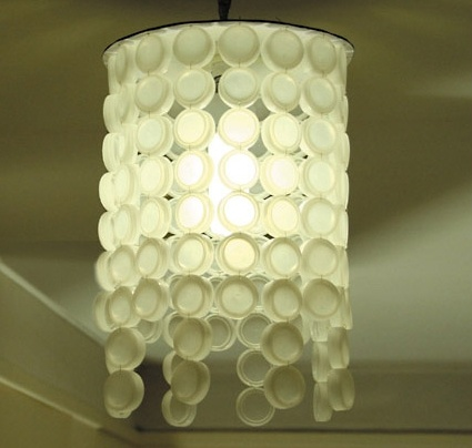 Luminaire with plastic caps and Pet