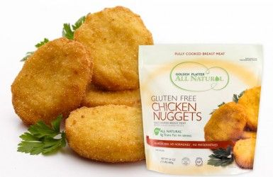 Golden platter all natural gluten free chicken nuggets - Buffalo bites are delish