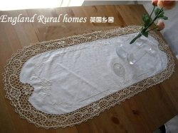 Vintage Hand JIMO Embroidery Off White Oval Table Runner  Http://www.victoriasdeco