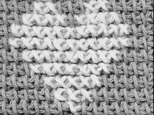 How to Cross-Stitch on Crocheted