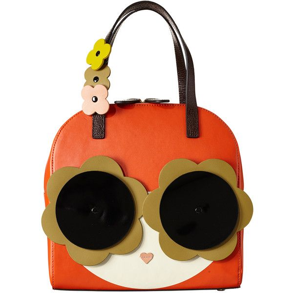 Applique Face Lola Bag ❤ liked on Polyvore featuring bags, handbags, real leather purses, orla kiely handbags, multicolor handbags, multi colored leather handbags and genuine leather handbags