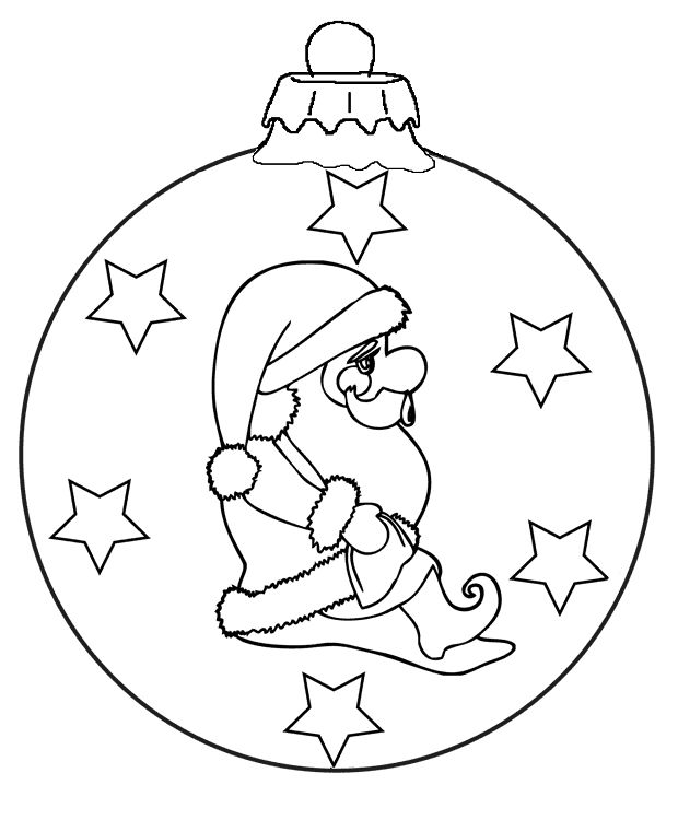 kerstbal kerstman kleurplaat met afbeeldingen kerstman