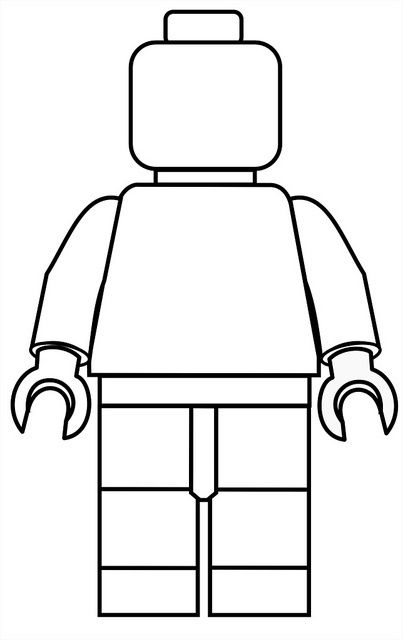 Minifigure template. print on bookmarks for students to embellish.
